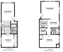 One Bedroom Deluxe Floor Plan
