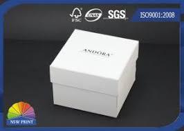 custom logo printed paper jewelry box jewellery gift bo white jewelry