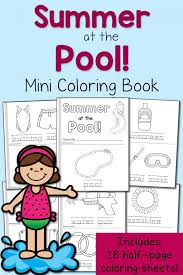 Small Picture FREE Summer at the Pool Mini Coloring Book and 18 Printable Pages