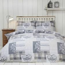 alpine patchwork duvet cover set 100 brushed cotton natural super king
