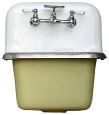 vintage kitchen design with churlish green farm sink wall mount
