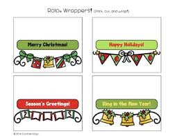 holiday rolo wrappers great for student gifts secret santas
