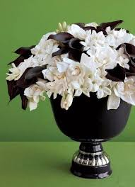 Artificial flowers in vase 13. evanspaige1. 5. Black & white flower  arrangement