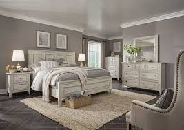 Raelynn Traditional Weathered White Solid Wood Master Bedroom Set ...