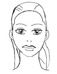 Blank Face Chart Sketch Coloring Page In - itgod.me