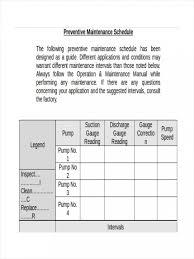 009 Preventive Maintenance Plan Template Ideas Checklist 1