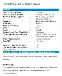 Teachers Biodata Format Iso Certification Co