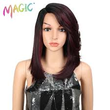 "<b>Magic Hair</b> Synthetic Lace <b>Wigs</b> For Black Women 16""Inch Straight ..."