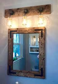 Rustic Bathroom Set,Bathroom Mirror,Vanity Mirror with Lights,Mirror Wall, Rustic Light Fixture,Bathroom Decor,Bathroom Set,Rustic Vanity
