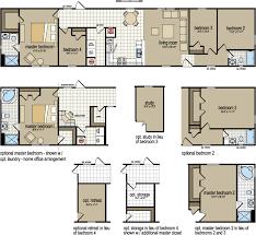 4 Bedroom 2 Bath Single Wide Mobile Home Floor Plans