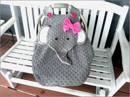 made to order gray fitted fleece elephant car seat canopy with k a baby carrier