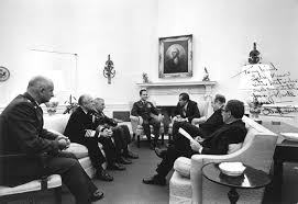 nixon office. Following The Raid, Military Leaders Briefed President Nixon In Oval Office At White ?