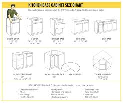 Kitchen Cabinets Size Base Cabinet Size Chart Kitchen