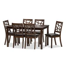 Baxton Studio Epperton Black Wood Modern Dining Table
