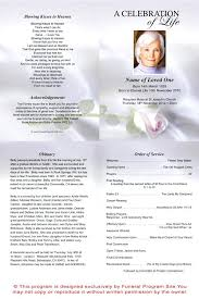 Funeral Service Template Memorial Program Templates Splendid