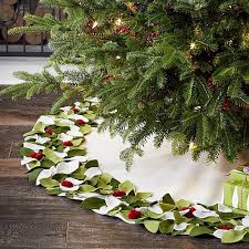 10 christmas tree skirts and collars to dress your in its holiday best crate barrel christmas tree skirt i4