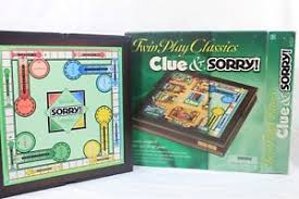 Wooden Sorry Board Game Twin Play Classics CLUE SORRY Wooden Board Game Hasbro 100 18