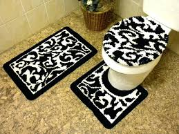 rug sets for luxuriant black white bathroom mat black and white bathroom rug set bathroom
