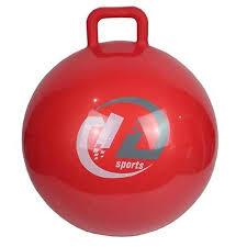 <b>Мяч</b>-попрыгун <b>Z</b>-<b>Sports GB65</b> с ручкой (65см, красный)