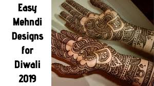 Latest Mehandi Designs For Diwali Top 20 Easy Mehndi Designs Specially For Diwali 2019 Tbr