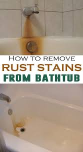 bathroom cleaning how do i remove porcelain tub rust stains you