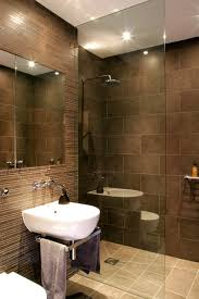 Sharp modern design basement shower room contemporary-bathroom