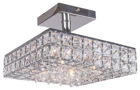 4 light crystal square semi flush mount in chrome finish astro lighting evros light crystal bathroom