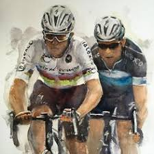 to km on arches paper on peloton abstract cycling team metal wall art with large painting bicycle city original oil on canvas artwork home