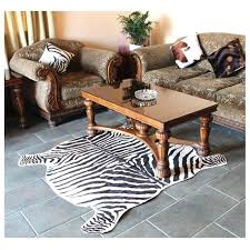 zebra print rug 2 piece cowhide classic safari large area mat for home carpet anti skid