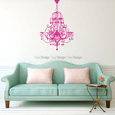 chandelier wall decal image 1