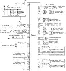air bag system wiring diagram symptom troubleshooting standard deployment control system