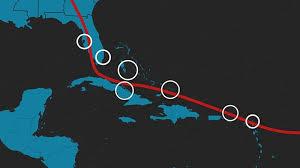 Chart Of Caribbean Islands Charting Irmas Path Of Destruction
