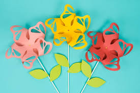 Paper Flower Pinwheels Flower Paper Pinwheels Perfect For Weddings Parties And Decor