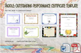 Best Performance Award Certificate Outstanding Performance Template By Paddle Paddle At The Point