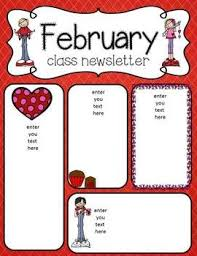 february newsletter template february newsletter freebies newsletters class newsletter