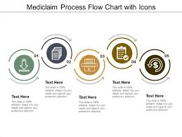 Mediclaim Process Flow Chart With Icons Ppt Powerpoint