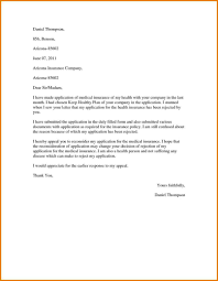 Appeal Letter Format Examples Insurance Appeal Letter Sample Template Health Example