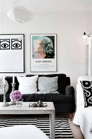 gallery of oskar 320 black white felted wool striped rug rugtastic petite 10