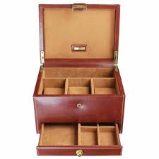 dulwich design brown watch cufflink box 3pcs 70881