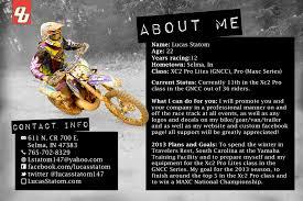 2013 Lucas Statom Sponsorship Resume.