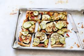Eggplant And Summer Squash Tart With Goat Cheese And Tomato