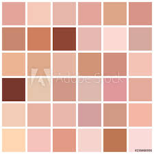 Skin Tone Color Chart Photo Art Print Skin Tone Color Chart Europosters