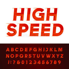 flyers numbers high speed alphabet vector font motion effect letters and numbers