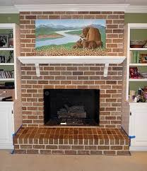 awesome what color should i paint my brick fireplace painting brick fireplace from white to beautiful