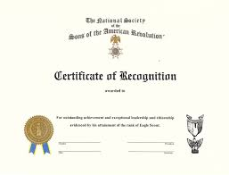 youth awards and programs nssar merchandise direct es 0411 eagle scout engraved certificate