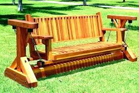wooden swing plans swings glider swing glider wooden swings rocking bench two seat wood gliders image