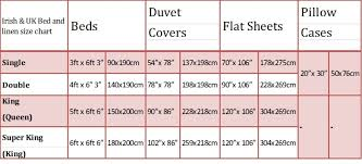 Bed Linen Amusing Sheet Sizes Chart Fitted Single Double