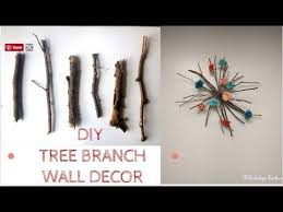 how to make wall hanging out of fallen tree branches diy spring wall decor