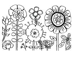 Simple Flower Color Pages Simple Flowers Coloring Pages Flower Free