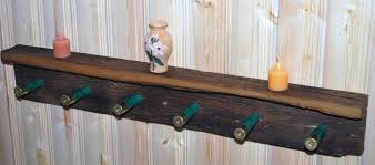 Coat Hat Racks Buy Custom Rustic Barnwood Coat Hat Rack Shelf With Shotgun Shells 14